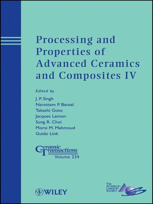 cover image of Processing and Properties of Advanced Ceramics and Composites IV
